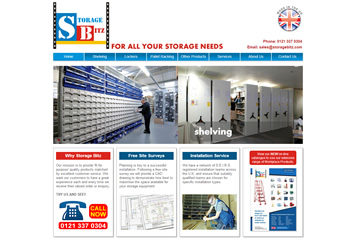 Image link to the main Storage Bitz website